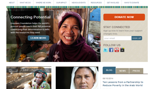 image of Grameen Foundation homepage