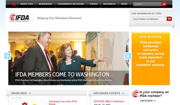 Image of IFDA homepage
