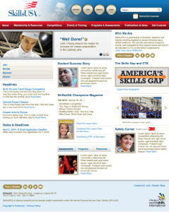 SkillsUSA website design composition