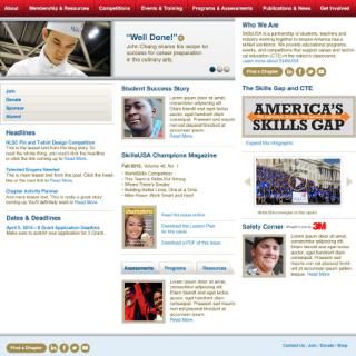 SkillsUSA website design composition