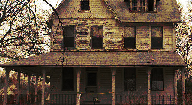 photo of scary house