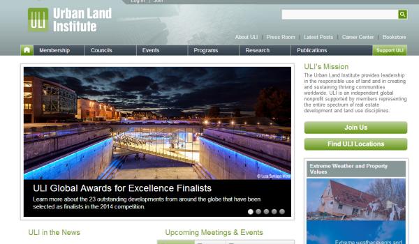 Image of uli.org homepage