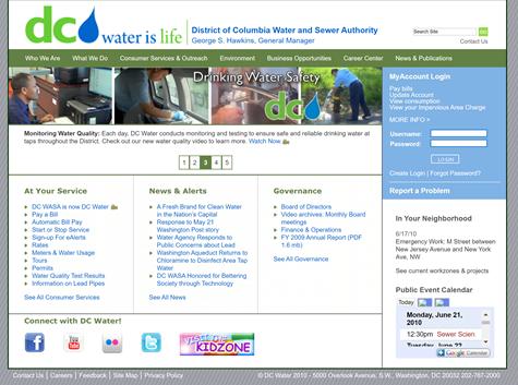 DCWater Website